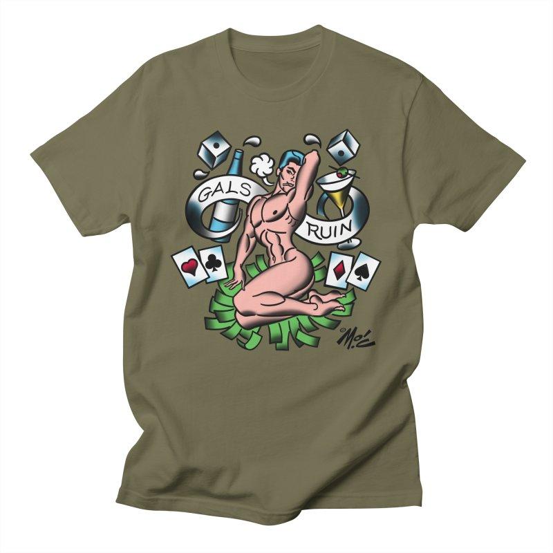 """Beefcake Buddies """"Gals Ruin""""! Men's Regular T-Shirt by Mitch O'Connell"""