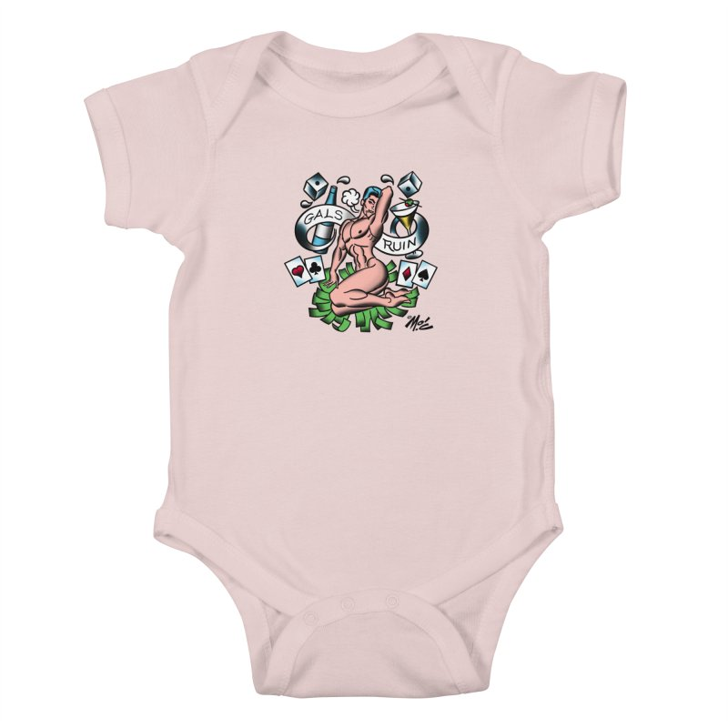 "Beefcake Buddies ""Gals Ruin""! Kids Baby Bodysuit by Mitch O'Connell"