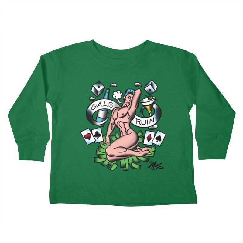 "Beefcake Buddies ""Gals Ruin""! Kids Toddler Longsleeve T-Shirt by Mitch O'Connell"