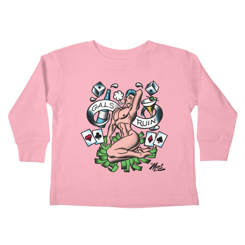 "Beefcake Buddies ""Gals Ruin""! Kids Toddler Longsleeve T-Shirt by Mitch O'Connell"