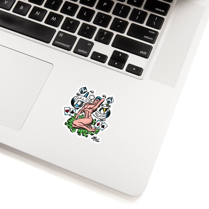 """Beefcake Buddies """"Gals Ruin""""! Accessories Sticker by Mitch O'Connell"""