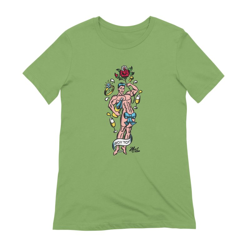 "Beefcake Buddies- ""Boy Toy""! Women's Extra Soft T-Shirt by Mitch O'Connell"