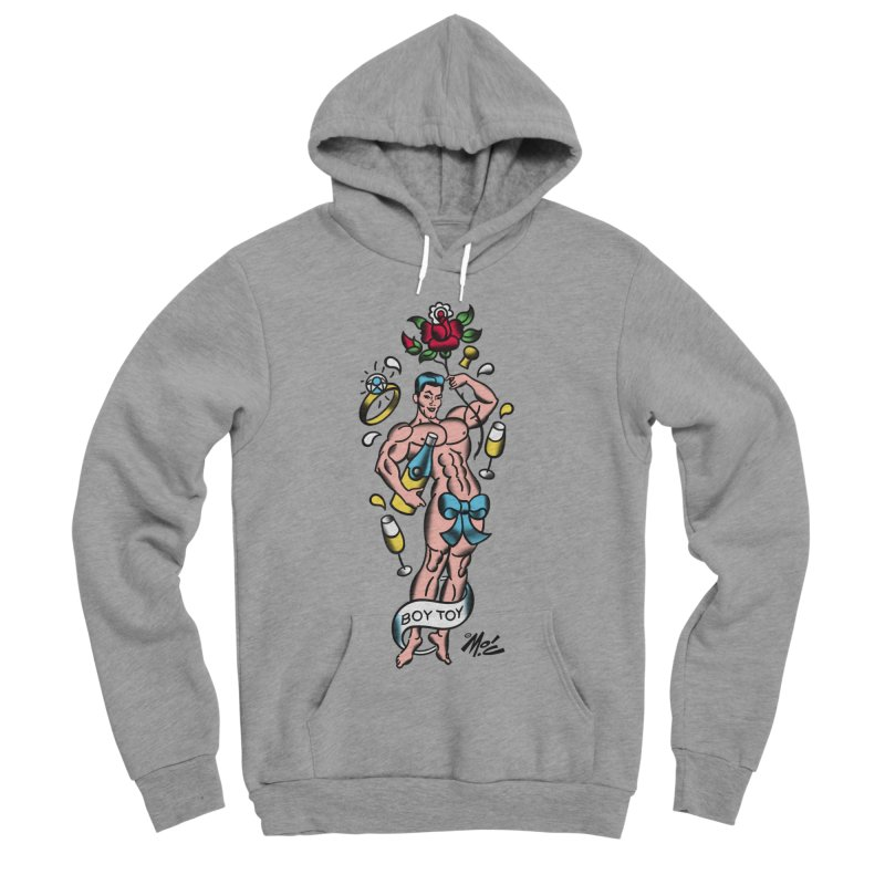 "Beefcake Buddies- ""Boy Toy""! Men's Sponge Fleece Pullover Hoody by Mitch O'Connell"