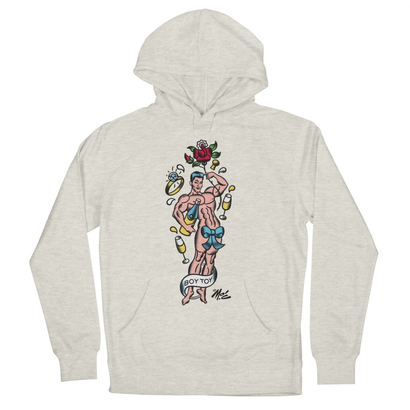 """Beefcake Buddies- """"Boy Toy""""! Women's French Terry Pullover Hoody by Mitch O'Connell"""