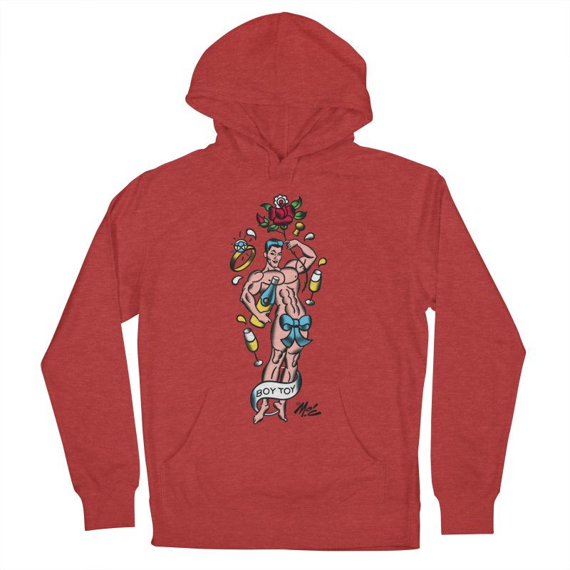 "Beefcake Buddies- ""Boy Toy""! Men's French Terry Pullover Hoody by Mitch O'Connell"