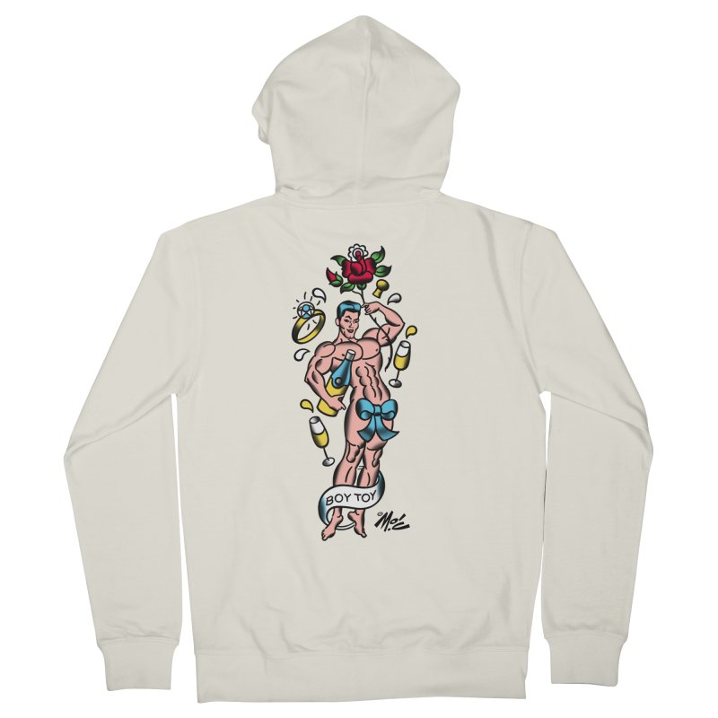 """Beefcake Buddies- """"Boy Toy""""! Women's French Terry Zip-Up Hoody by Mitch O'Connell"""
