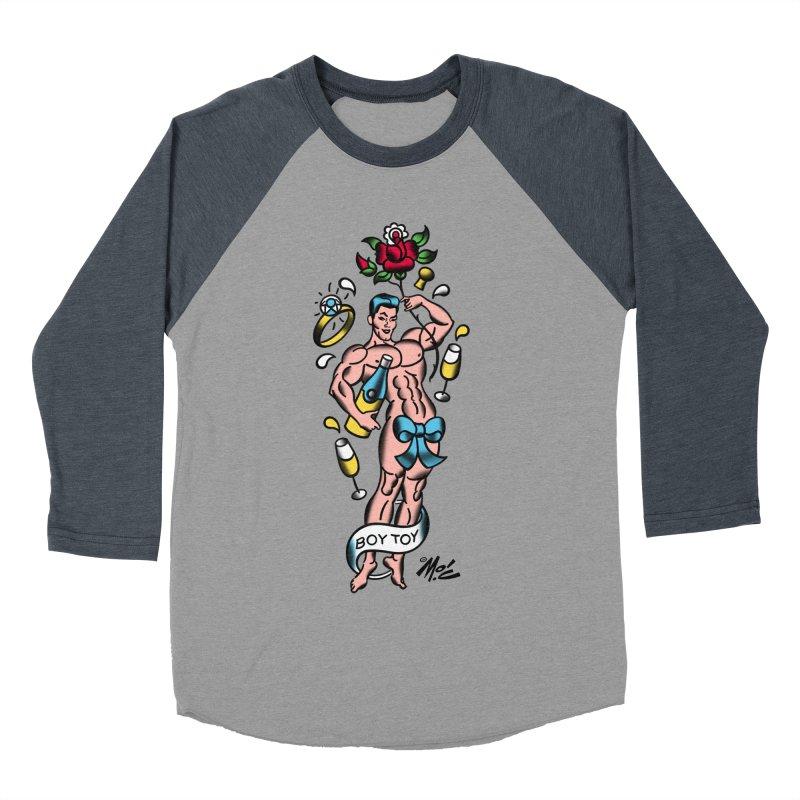 "Beefcake Buddies- ""Boy Toy""! Women's Baseball Triblend Longsleeve T-Shirt by Mitch O'Connell"