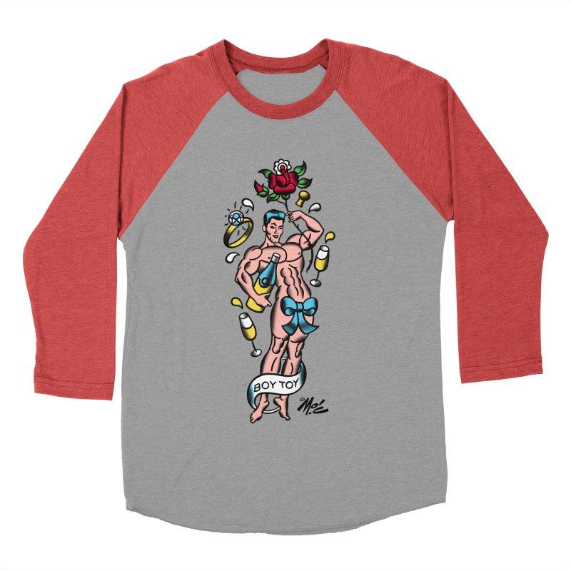 "Beefcake Buddies- ""Boy Toy""! Men's Baseball Triblend Longsleeve T-Shirt by Mitch O'Connell"