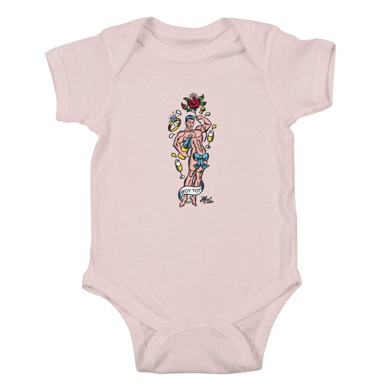 "Beefcake Buddies- ""Boy Toy""! Kids Baby Bodysuit by Mitch O'Connell"
