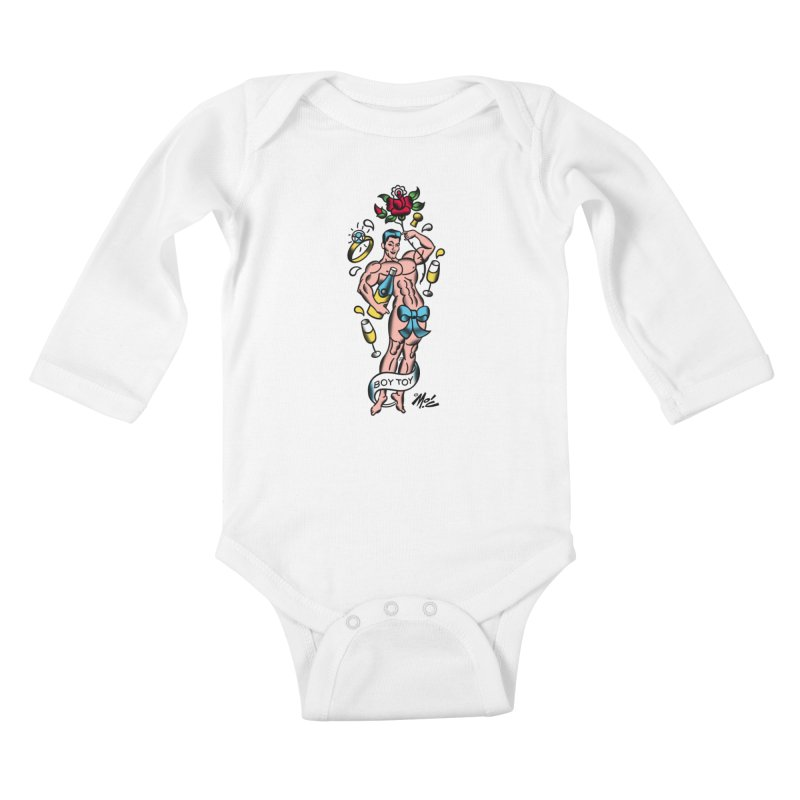 "Beefcake Buddies- ""Boy Toy""! Kids Baby Longsleeve Bodysuit by Mitch O'Connell"