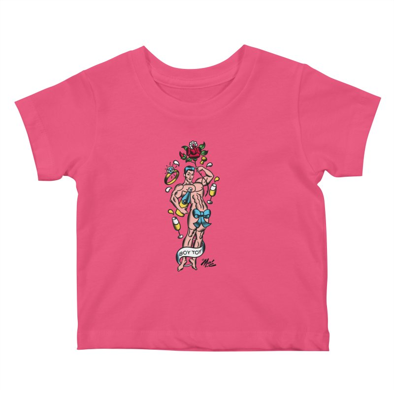 "Beefcake Buddies- ""Boy Toy""! Kids Baby T-Shirt by Mitch O'Connell"