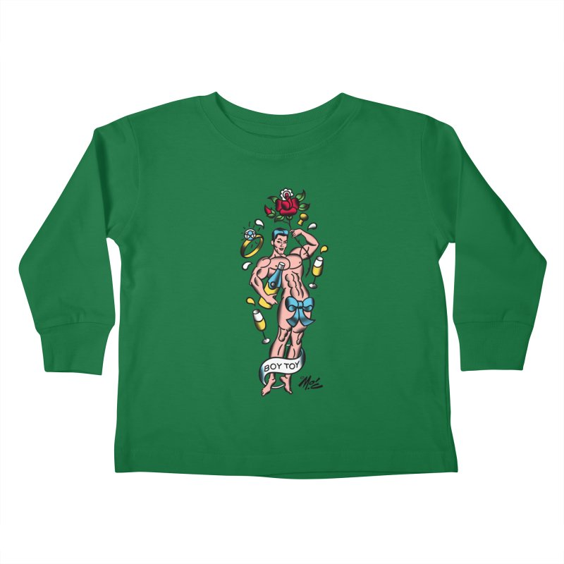 "Beefcake Buddies- ""Boy Toy""! Kids Toddler Longsleeve T-Shirt by Mitch O'Connell"