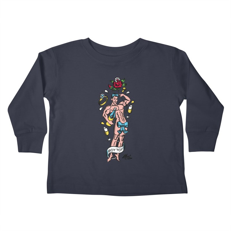 """Beefcake Buddies- """"Boy Toy""""! Kids Toddler Longsleeve T-Shirt by Mitch O'Connell"""