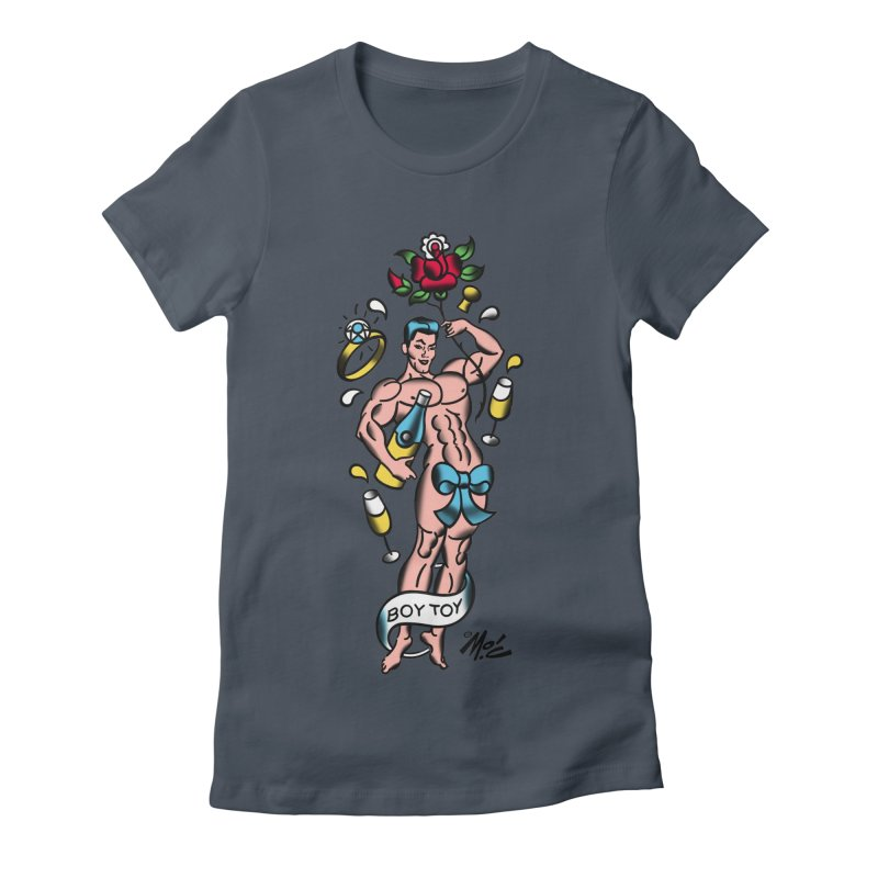 "Beefcake Buddies- ""Boy Toy""! Women's Fitted T-Shirt by Mitch O'Connell"