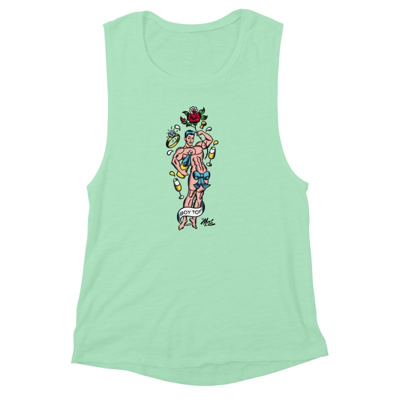 "Beefcake Buddies- ""Boy Toy""! Women's Muscle Tank by Mitch O'Connell"