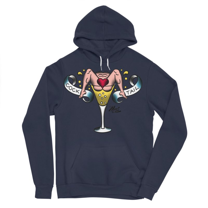 "Beefcake Buddies- ""Cock Tail""! Men's Sponge Fleece Pullover Hoody by Mitch O'Connell"