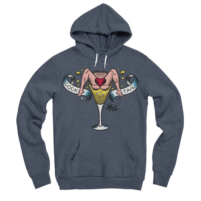 """Beefcake Buddies- """"Cock Tail""""! Men's Sponge Fleece Pullover Hoody by Mitch O'Connell"""
