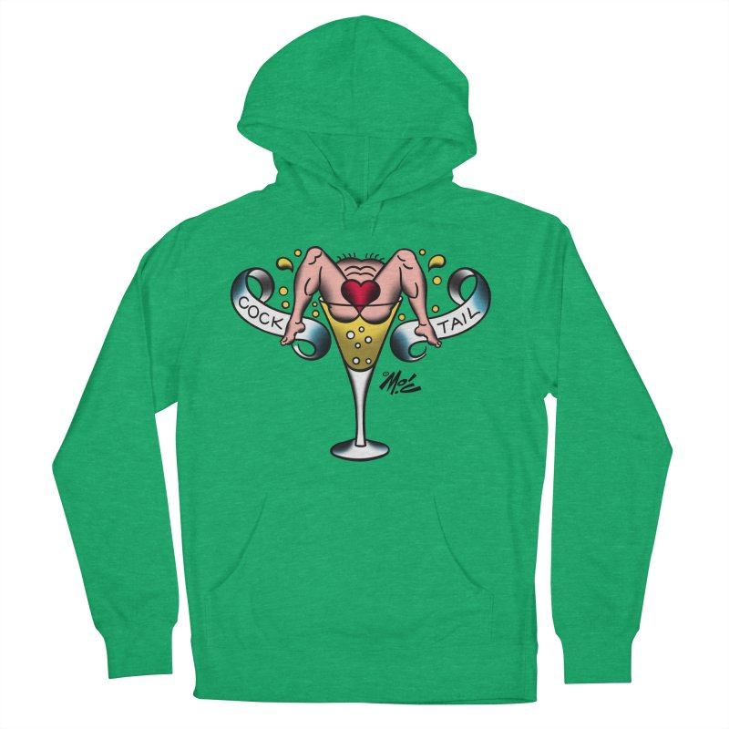 "Beefcake Buddies- ""Cock Tail""! Men's French Terry Pullover Hoody by Mitch O'Connell"