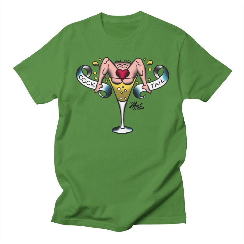 """Beefcake Buddies- """"Cock Tail""""! Men's Regular T-Shirt by Mitch O'Connell"""