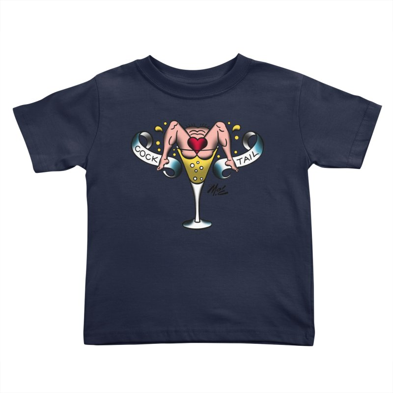 """Beefcake Buddies- """"Cock Tail""""! Kids Toddler T-Shirt by Mitch O'Connell"""