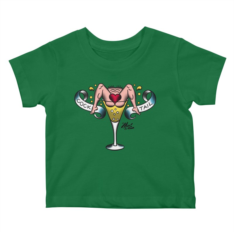 "Beefcake Buddies- ""Cock Tail""! Kids Baby T-Shirt by Mitch O'Connell"