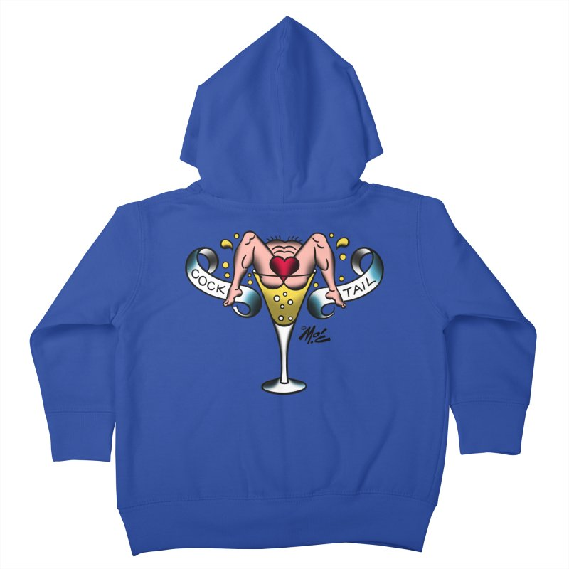 """Beefcake Buddies- """"Cock Tail""""! Kids Toddler Zip-Up Hoody by Mitch O'Connell"""