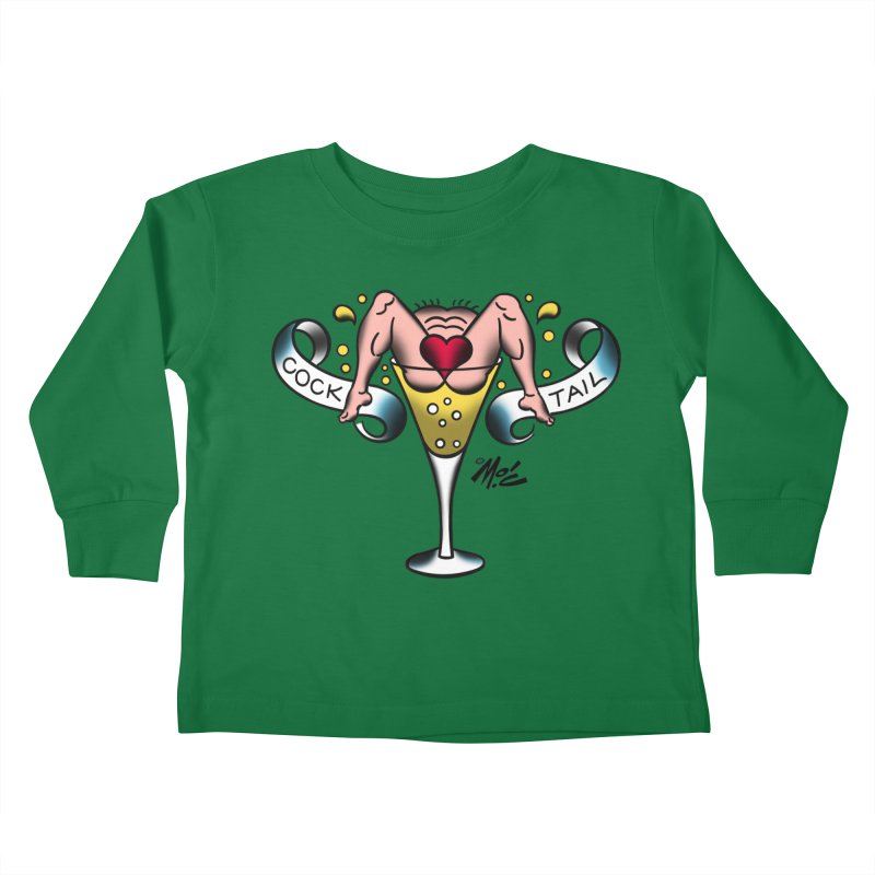 "Beefcake Buddies- ""Cock Tail""! Kids Toddler Longsleeve T-Shirt by Mitch O'Connell"