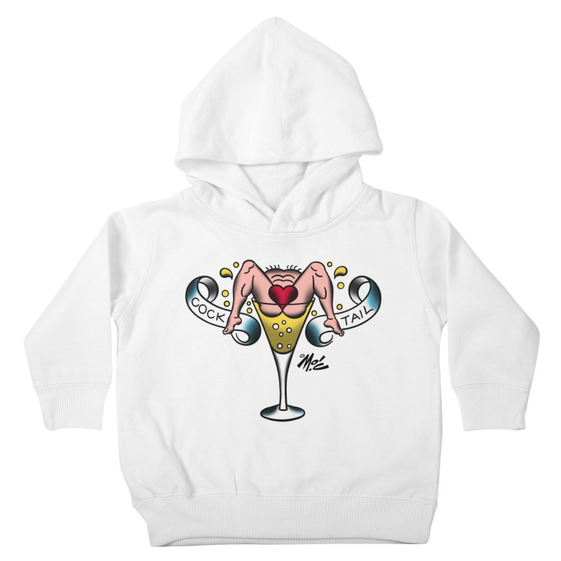 """Beefcake Buddies- """"Cock Tail""""! Kids Toddler Pullover Hoody by Mitch O'Connell"""