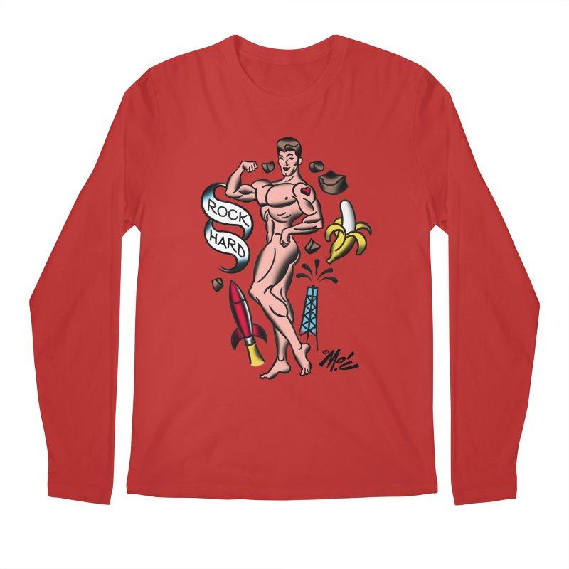 """Beefcake Buddies- """"Rock Hard""""! Men's Regular Longsleeve T-Shirt by Mitch O'Connell"""