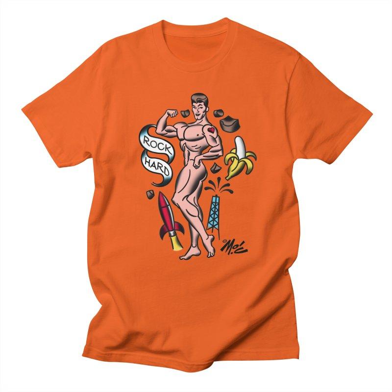 """Beefcake Buddies- """"Rock Hard""""! Women's Regular Unisex T-Shirt by Mitch O'Connell"""