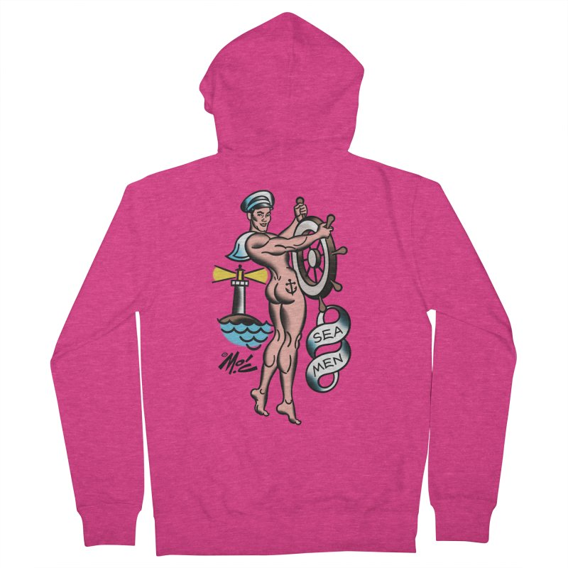 """Beefcake Buddies- """"Sea Men""""! Women's French Terry Zip-Up Hoody by Mitch O'Connell"""