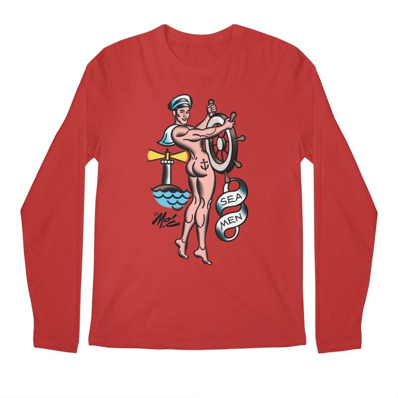"""Beefcake Buddies- """"Sea Men""""! Men's Regular Longsleeve T-Shirt by Mitch O'Connell"""