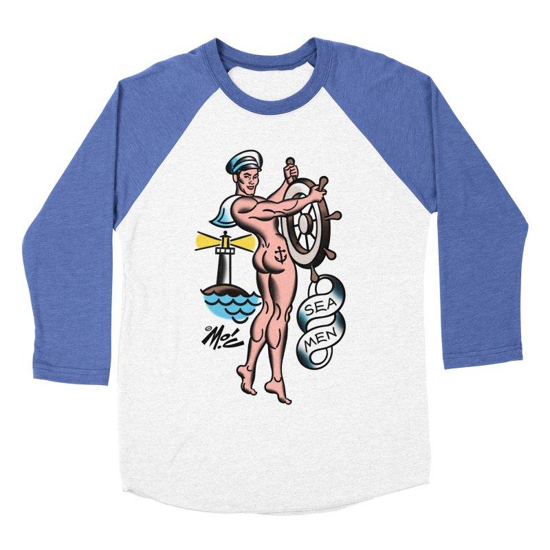 "Beefcake Buddies- ""Sea Men""! Women's Baseball Triblend Longsleeve T-Shirt by Mitch O'Connell"