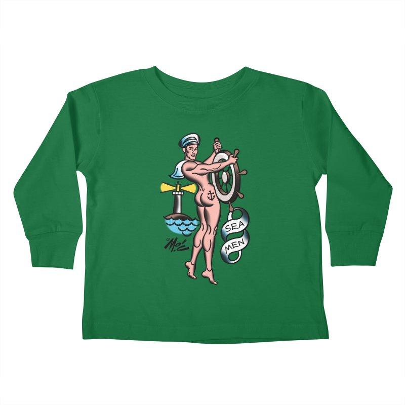 "Beefcake Buddies- ""Sea Men""! Kids Toddler Longsleeve T-Shirt by Mitch O'Connell"