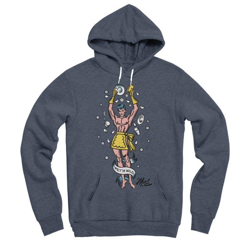 """Beefcake Buddies- """"Wet 'n Wild""""! Women's Sponge Fleece Pullover Hoody by Mitch O'Connell"""