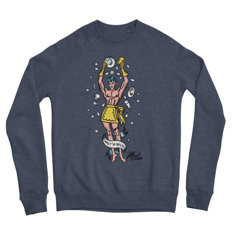 """Beefcake Buddies- """"Wet 'n Wild""""! Women's Sponge Fleece Sweatshirt by Mitch O'Connell"""