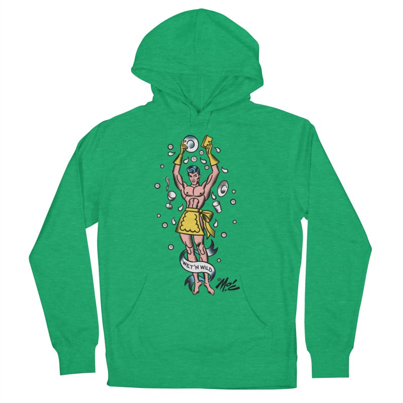 """Beefcake Buddies- """"Wet 'n Wild""""! Men's French Terry Pullover Hoody by Mitch O'Connell"""