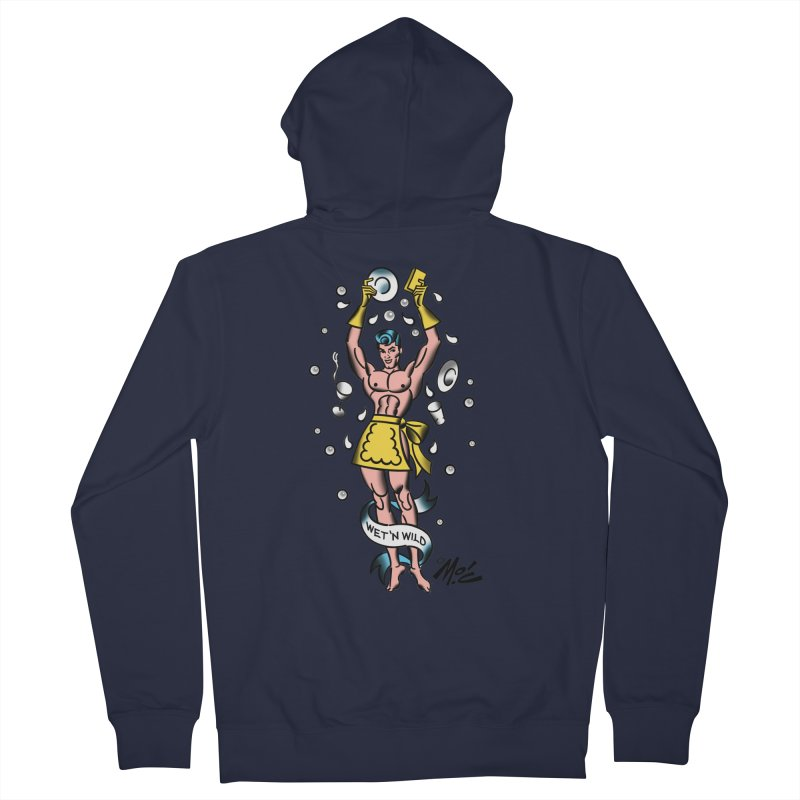 """Beefcake Buddies- """"Wet 'n Wild""""! Women's French Terry Zip-Up Hoody by Mitch O'Connell"""