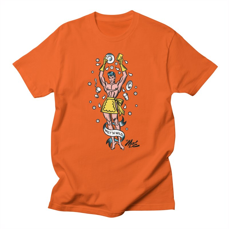 "Beefcake Buddies- ""Wet 'n Wild""! Men's Regular T-Shirt by Mitch O'Connell"
