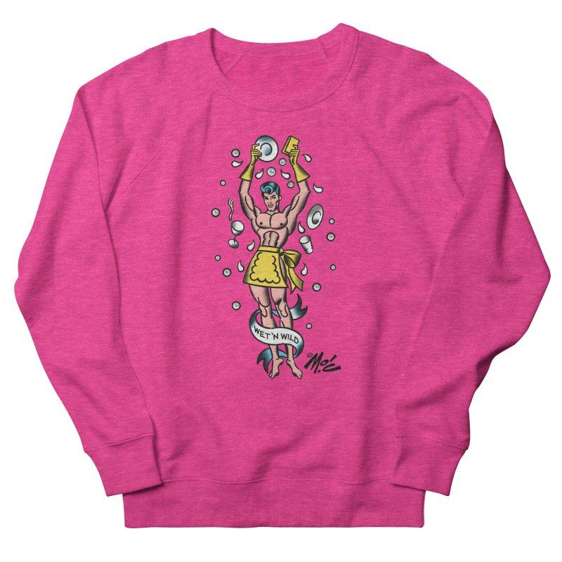 "Beefcake Buddies- ""Wet 'n Wild""! Women's French Terry Sweatshirt by Mitch O'Connell"