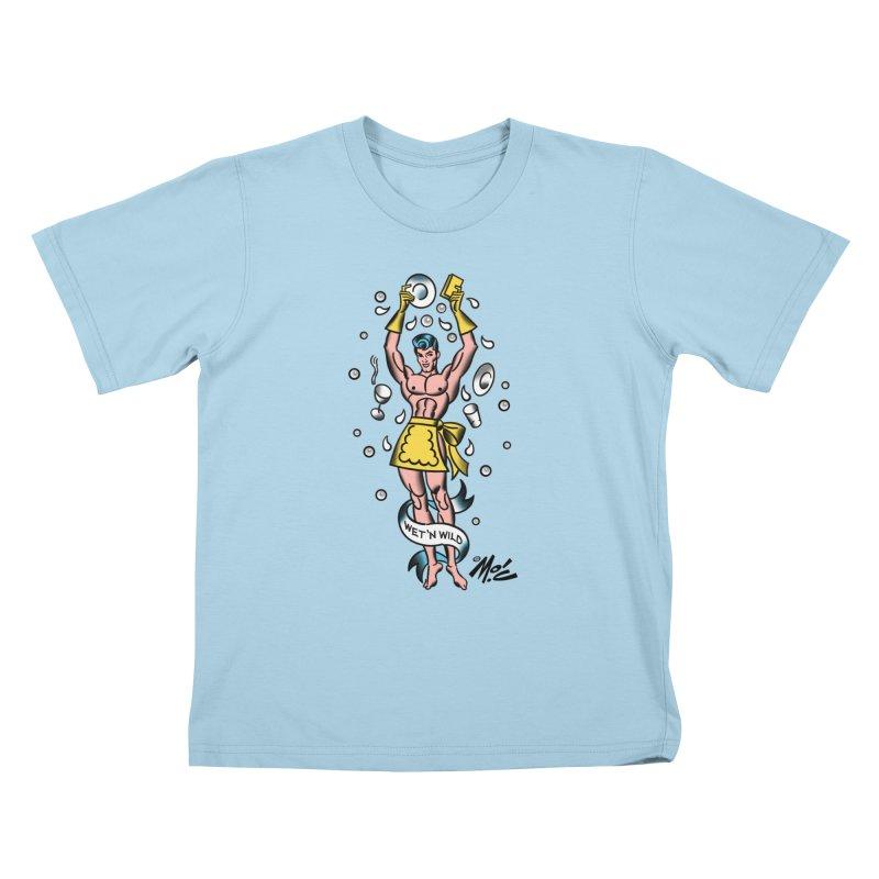 """Beefcake Buddies- """"Wet 'n Wild""""! Kids T-Shirt by Mitch O'Connell"""