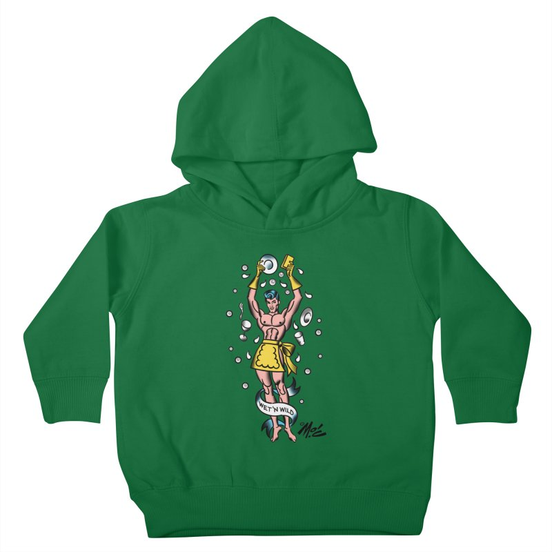 "Beefcake Buddies- ""Wet 'n Wild""! Kids Toddler Pullover Hoody by Mitch O'Connell"
