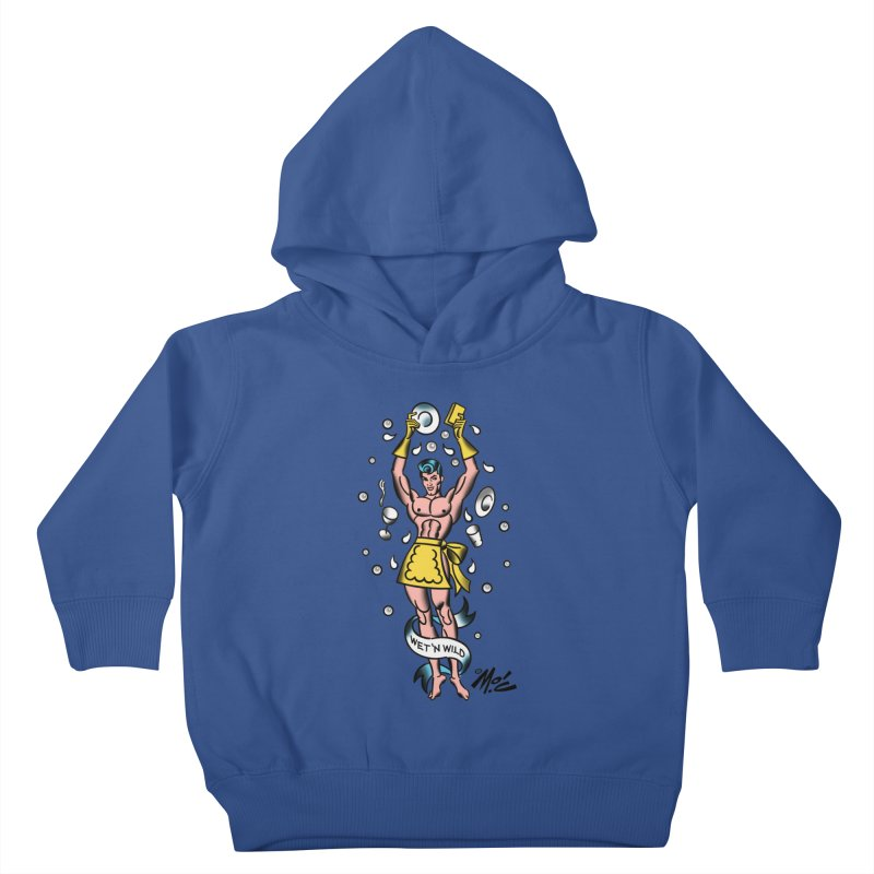 """Beefcake Buddies- """"Wet 'n Wild""""! Kids Toddler Pullover Hoody by Mitch O'Connell"""