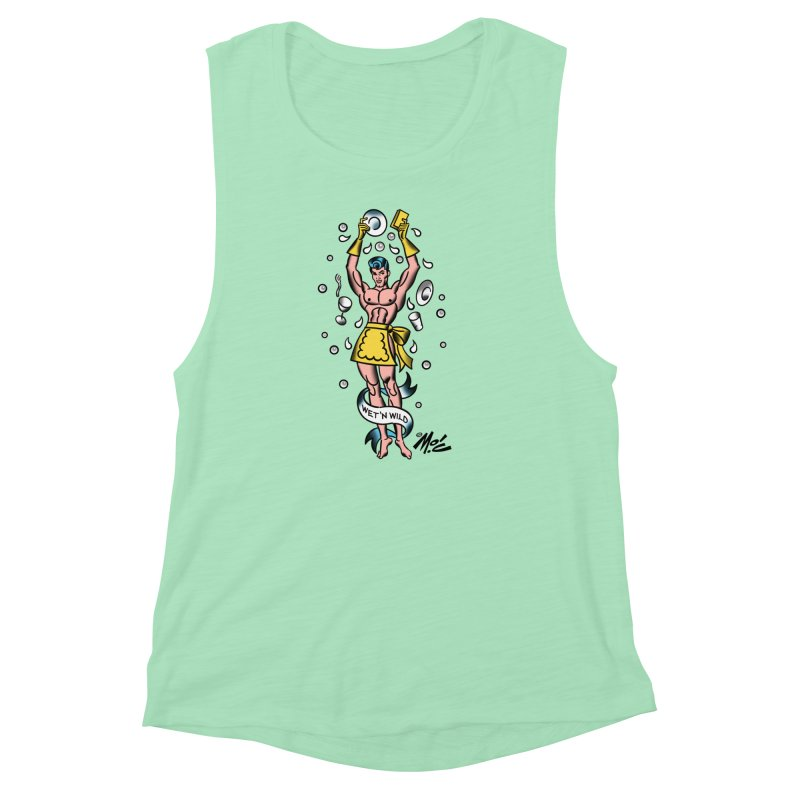 "Beefcake Buddies- ""Wet 'n Wild""! Women's Muscle Tank by Mitch O'Connell"