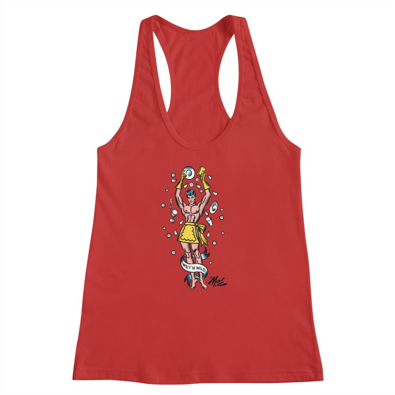 "Beefcake Buddies- ""Wet 'n Wild""! Women's Racerback Tank by Mitch O'Connell"