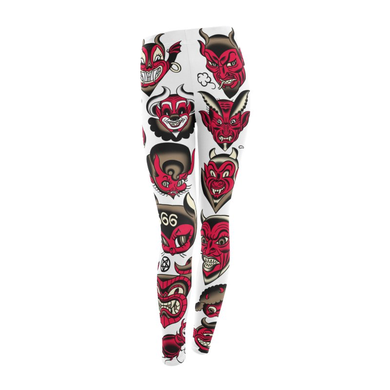 The Devil Made Me Do It! Women's Leggings Bottoms by Mitch O'Connell