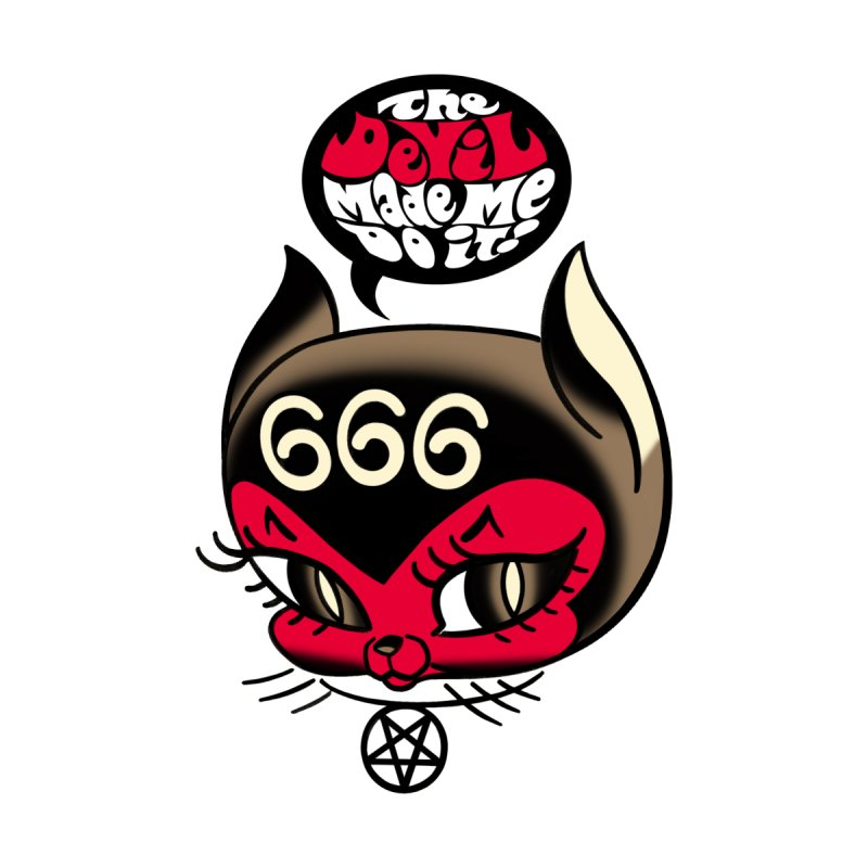 The Devil Made Me Do It! Kids T-Shirt by Mitch O'Connell