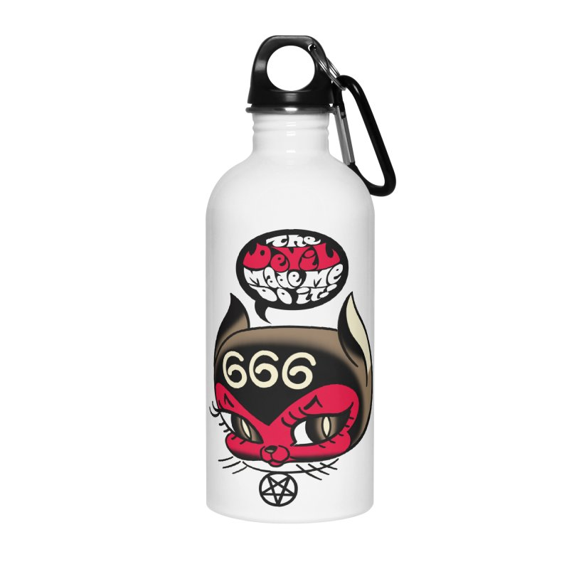 The Devil Made Me Do It! Accessories Water Bottle by Mitch O'Connell