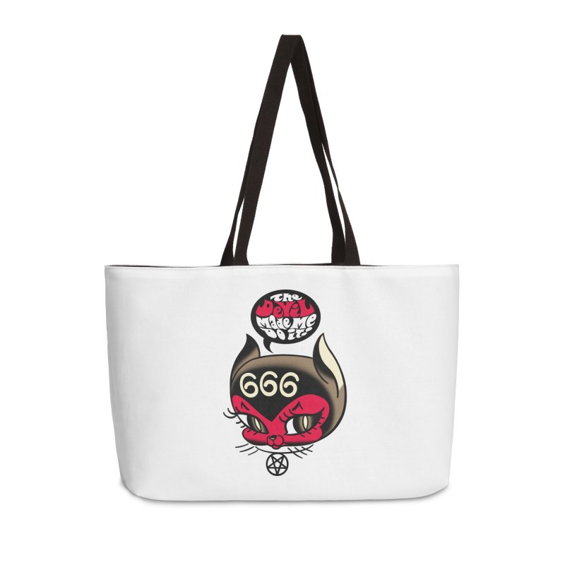 The Devil Made Me Do It! Accessories Weekender Bag Bag by Mitch O'Connell