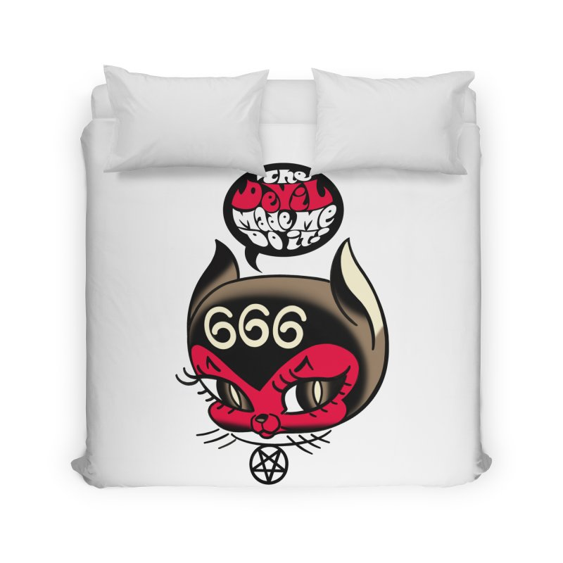 The Devil Made Me Do It! Home Duvet by Mitch O'Connell